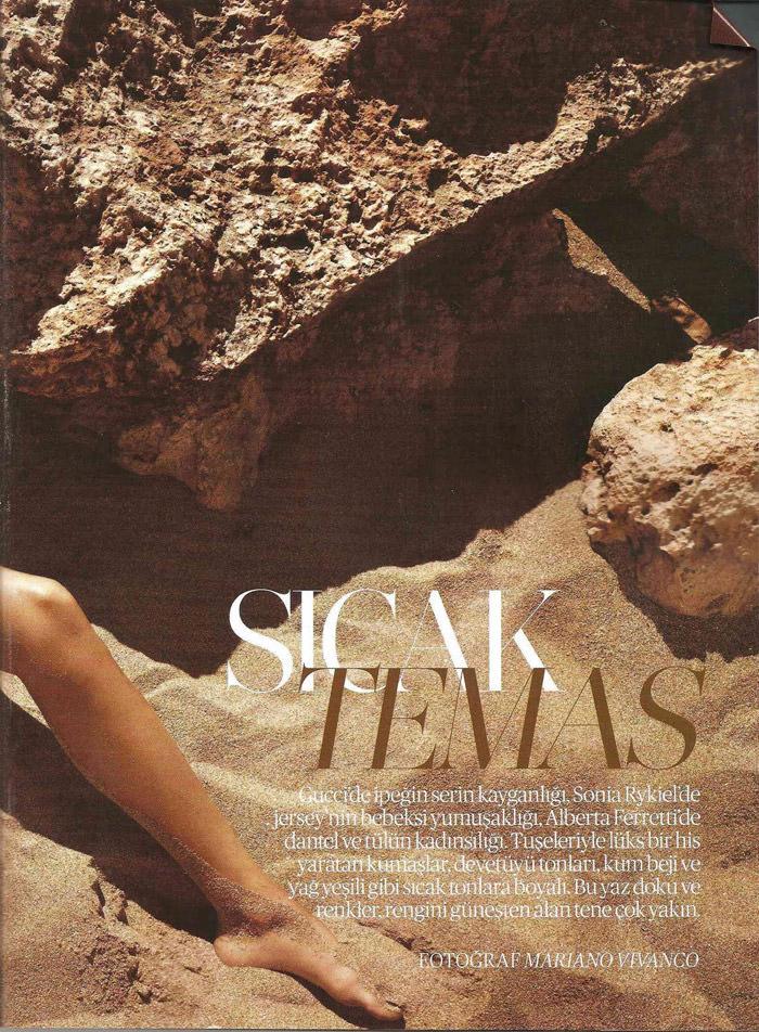 "Anna Jagodzinska photographed by Mariano Vivanco in ""Sicak Temas"" for Vogue Türkiye, June 2011 3"