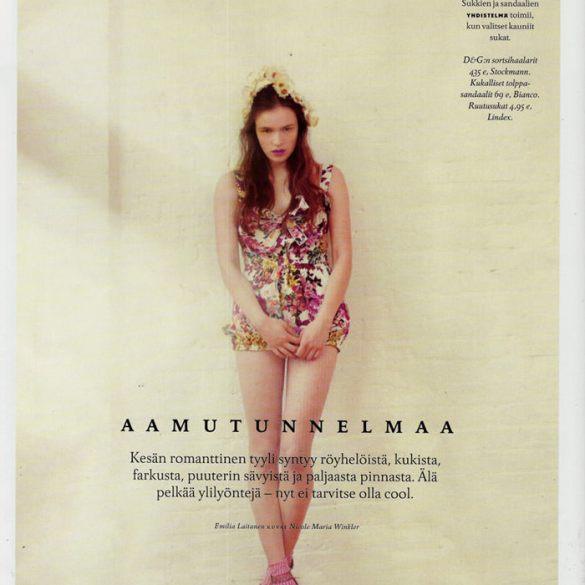 """Aamutunnelmaa"" by Nicole Maria Winkler for Trendi (Finland), June 2011 2"