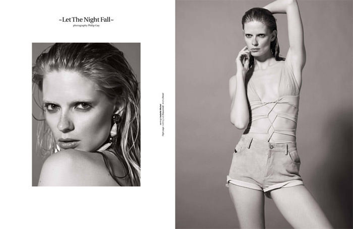 "Julia Stegner photographed by Philip Gay in ""Let The Night Fall"" for Zoo Magazine, Summer 2011"