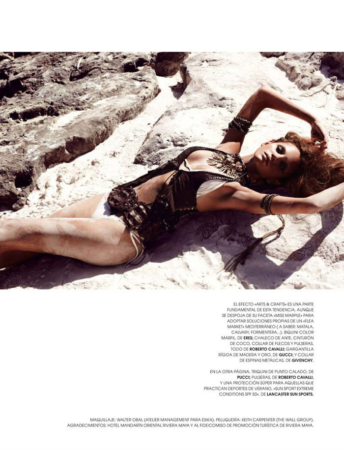 "Regina Feoktistova photographed by David Roemer in ""New Age"" for Marie Claire España, July 2011"