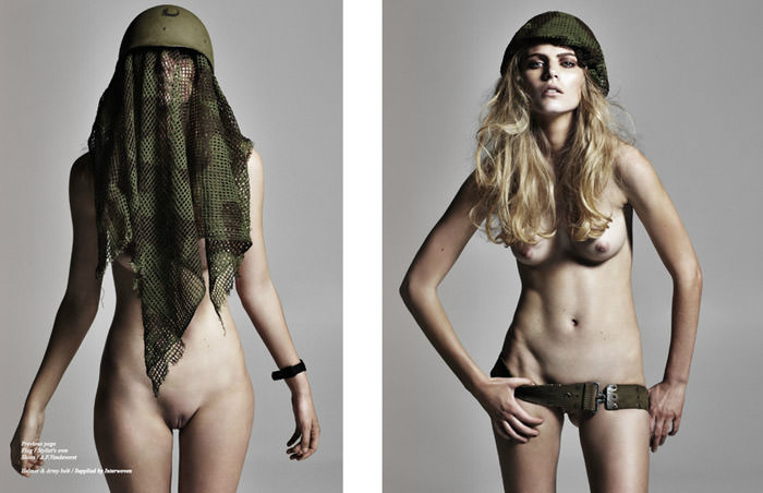 """Flesh, Flags, Fatigues"" photographed by Tiziano Magni for Schön! Magazine #13"