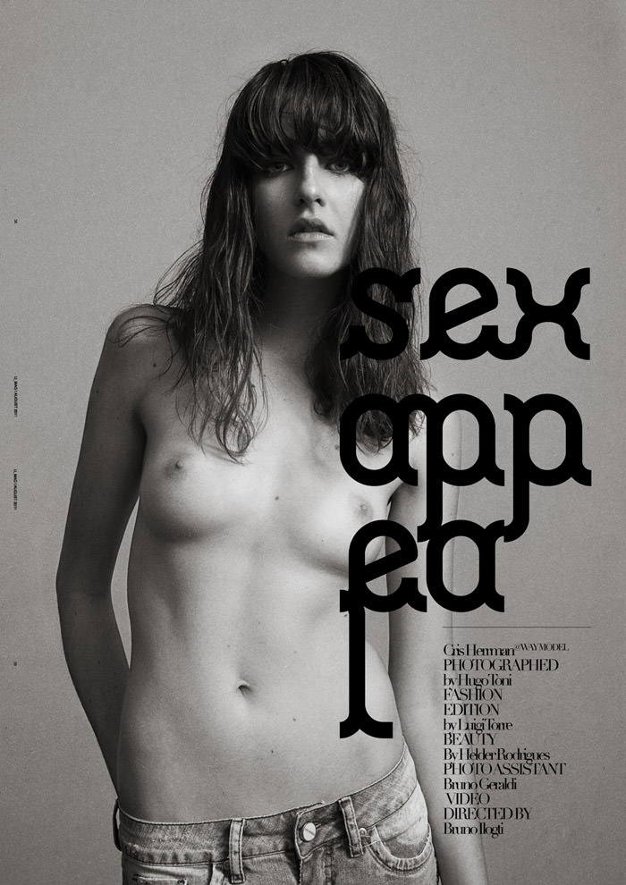 "Cristina Herrmann photographed by Hugo Toni in ""Sex Appeal"" for U Mag: The Sex Issue, August 2011"