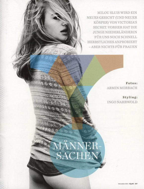 Milou Sluis by Armin Morbach for GQ Germany