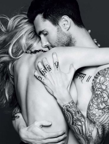 Anne Vyalitsyna & Adam Levine by Alix Malka for Vogue Russia