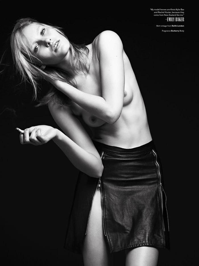 Emily Baker by Hedi Slimane for V Magazine