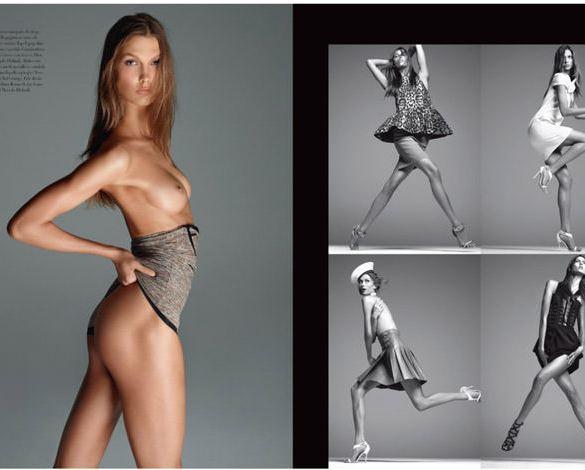 Karlie Kloss by Steven Meisel for Vogue Italy