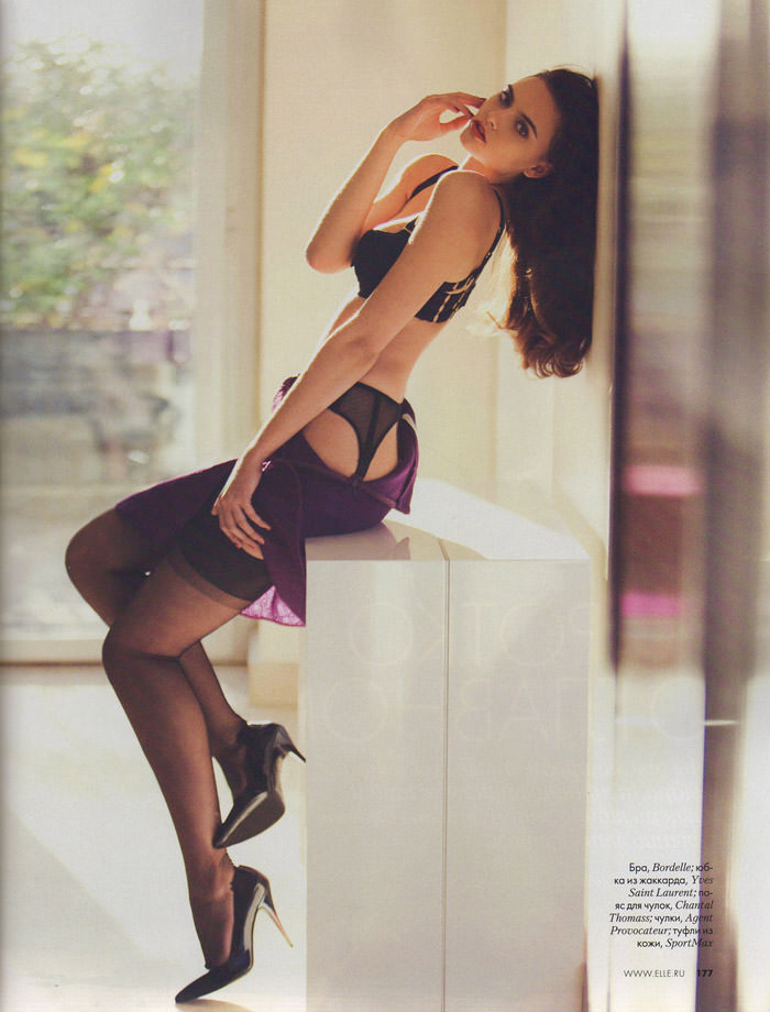 Zuzana Gregorova photographed by David Bellemere for Elle Russia, February 2012