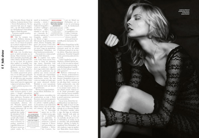 Magdalena Frackowiak photographed by Magdalena Luniewska for Fashion Magazine Poland #39, Spring 2012