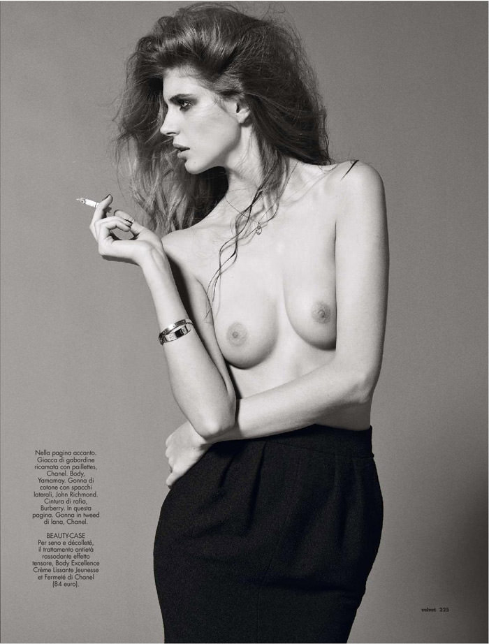 Jennifer Messelier photographed by Philip Gay for Velvet Magazine, April 2012