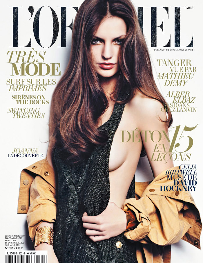 Joanna Koltuniak by Thomas Nutzl for L'Officiel Paris, May 2012