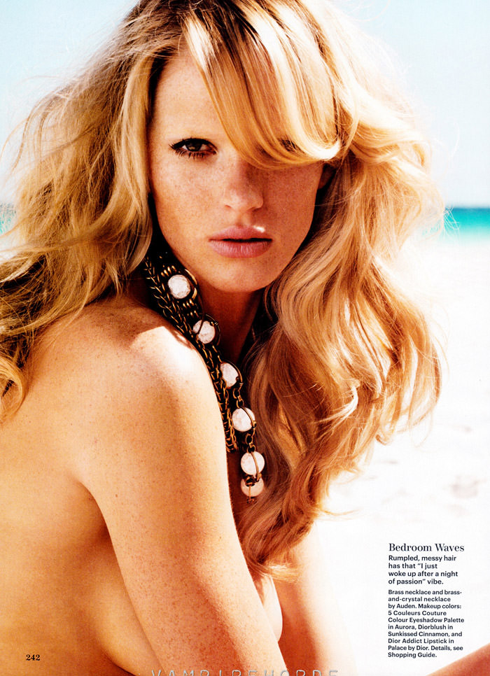 Anne Vyalitsyna photographed by Nicolas Moore for Allure, May 2012