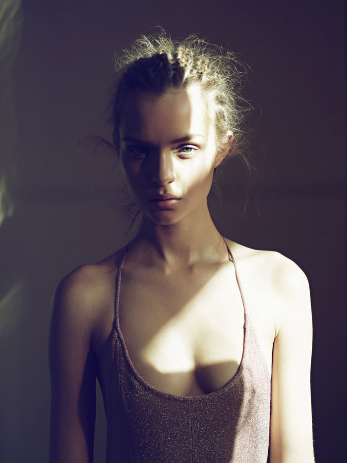 Josephine Skriver photographed by Markus Jans for Tush, Summer 2012