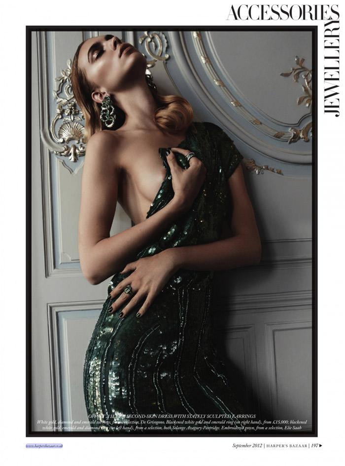 """Emily Senko photographed by Rafael Stahelin in """"Eyes Wide Shut"""" for Harper's Bazaar UK, September 2012"""