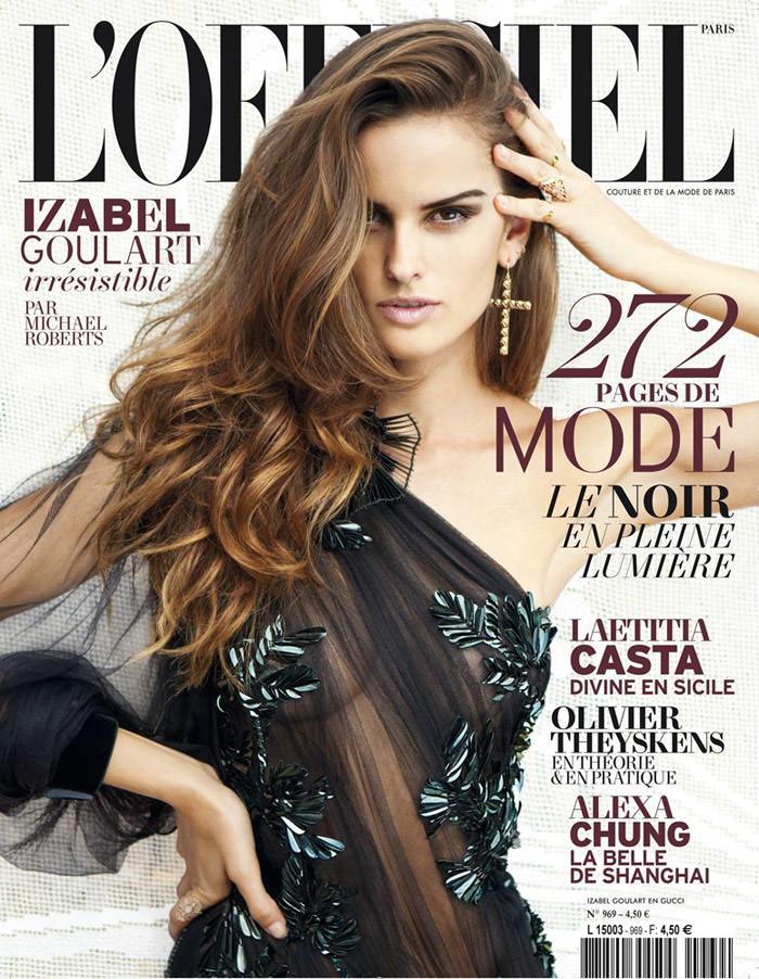Izabel Goulart by Michael Roberts for L'Officiel Paris