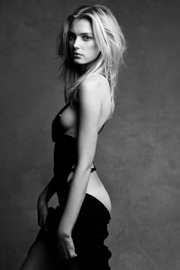 Sigrid Agren (topless / semi-nude) by Patrick Demarchelier and Victor Demarchelier
