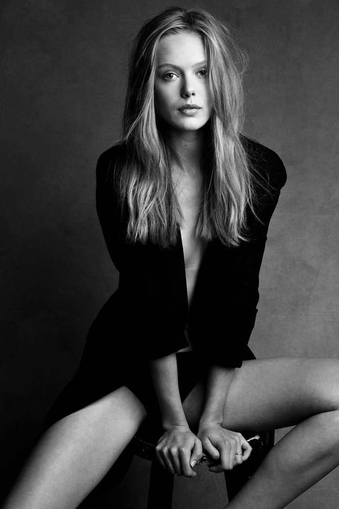 Frida Gustavsson by Patrick Demarchelier and Victor Demarchelier