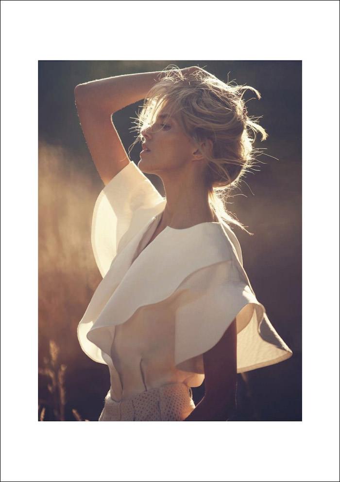 Anja Rubik by David Bellemere for Vogue Paris