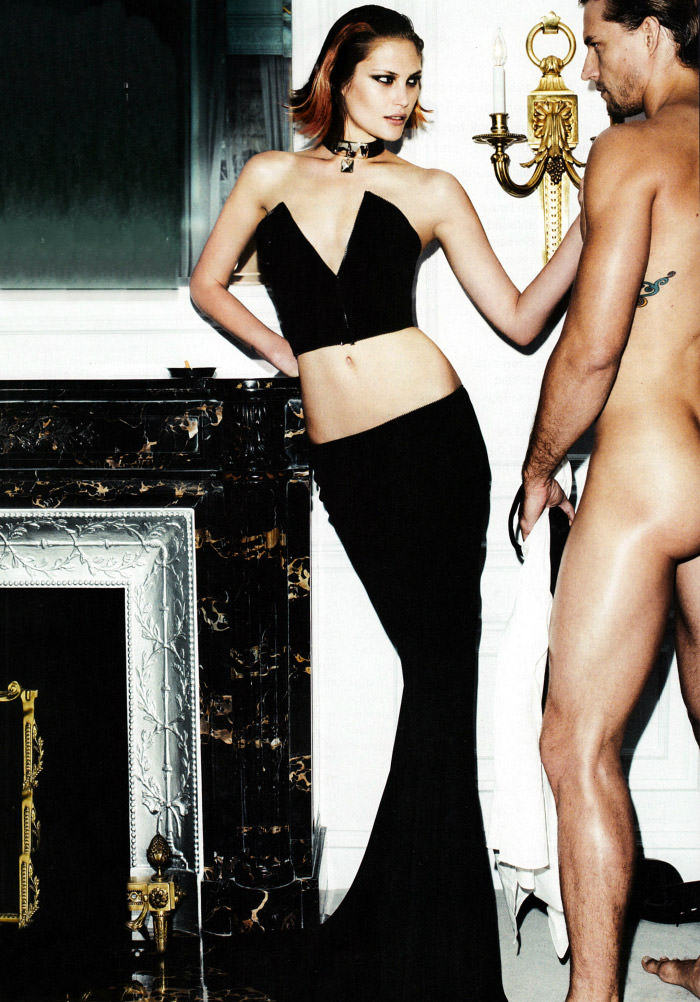 Edita Vilkeviciute, Catherine McNeil and Izabel Goulart by Mario Testino for Allure