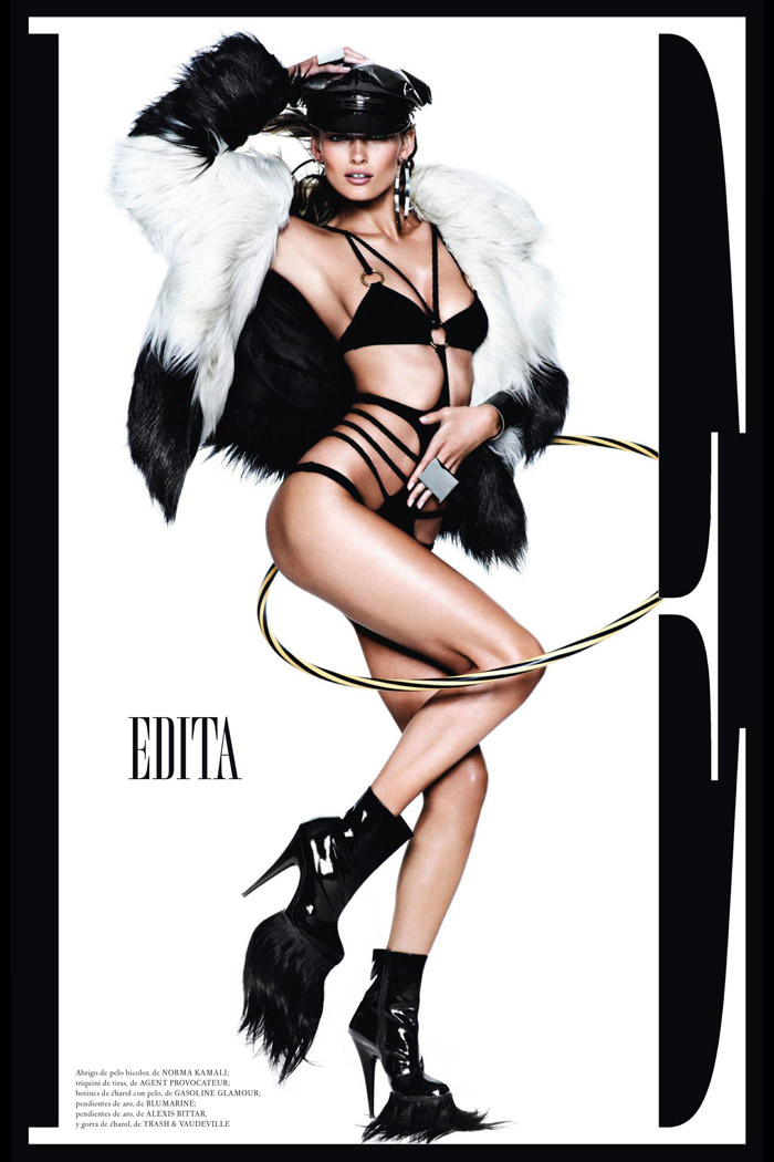 Edita Vilkeviciute by Mario Testino for Vogue Spain