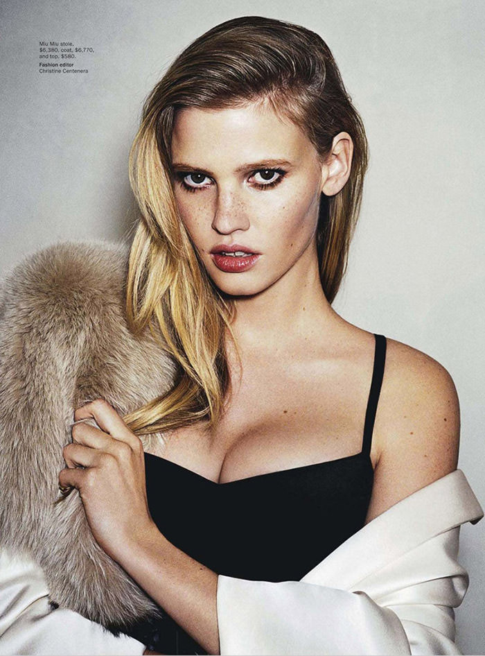 Lara Stone photographed by Angelo Pennetta for Vogue Australia, March 2013