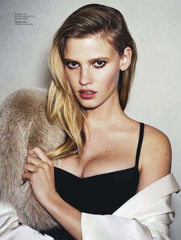 Lara Stone by Angelo Pennetta for Vogue Australia
