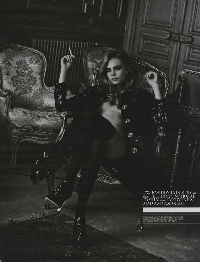 Cara Delevingne by Peter Lindbergh for Interview Magazine