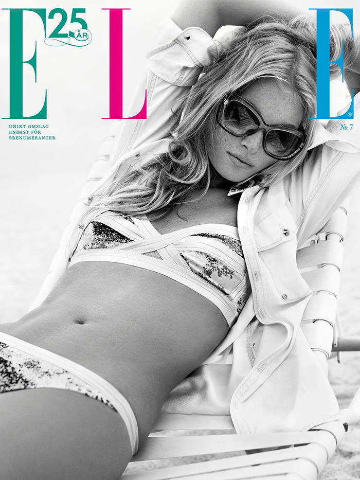 Elsa Hosk by Eric Josjö for Elle Sweden, July 2013