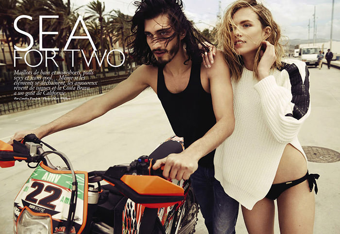 Tosca Dekker and Andres Risso by Marc Philbert for Grazia France