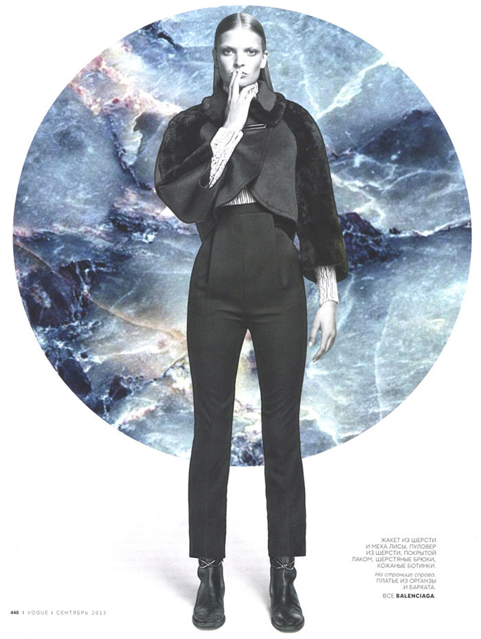 Juliane Gruner by Daniel Sannwald for Vogue Russia