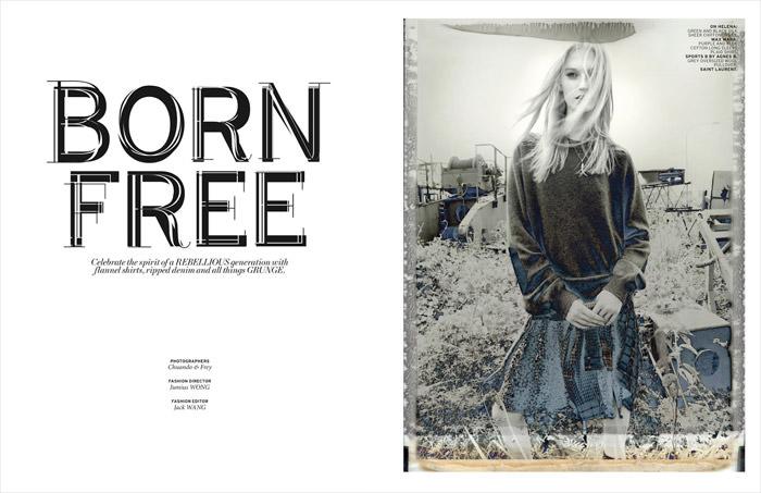 Helena Greyhorse by Chuando & Frey for L'officiel Singapore