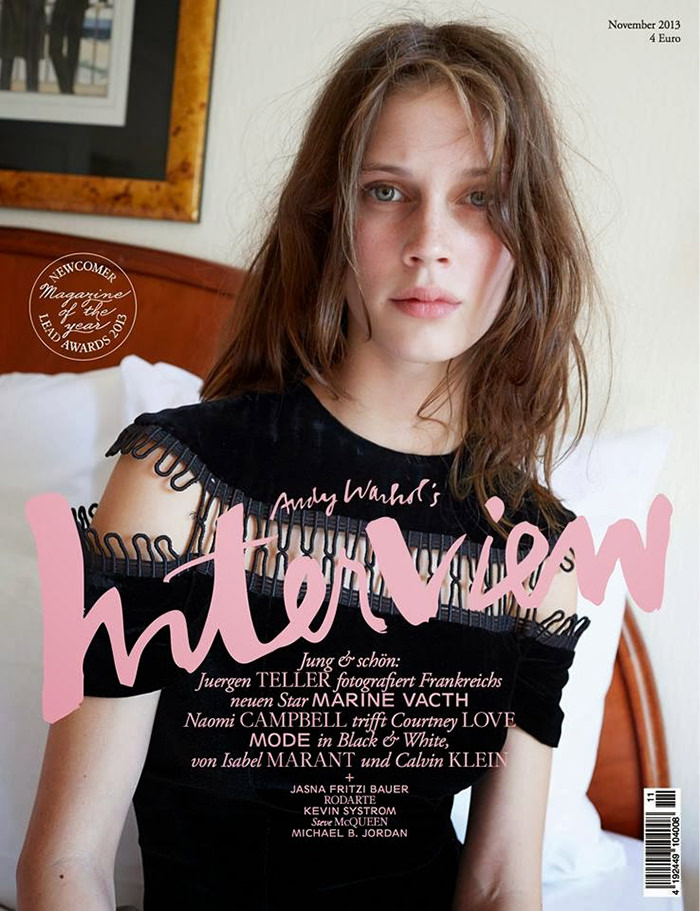 Marine Vacth covers Interview Germany