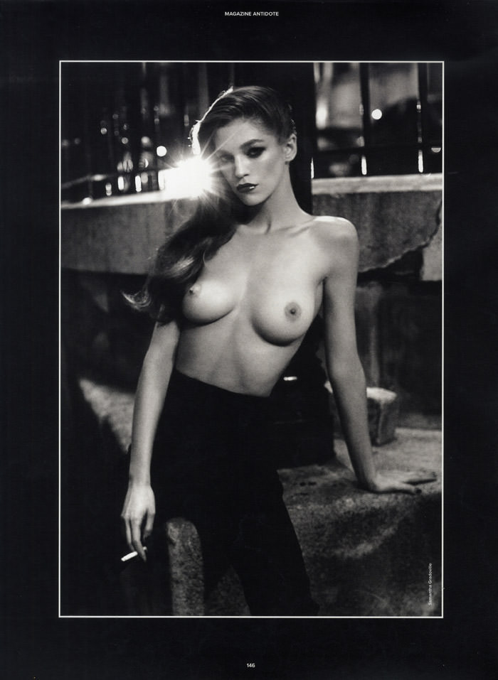 Samantha Gradoville by Viktor Demarchelier for Magazine Antidote