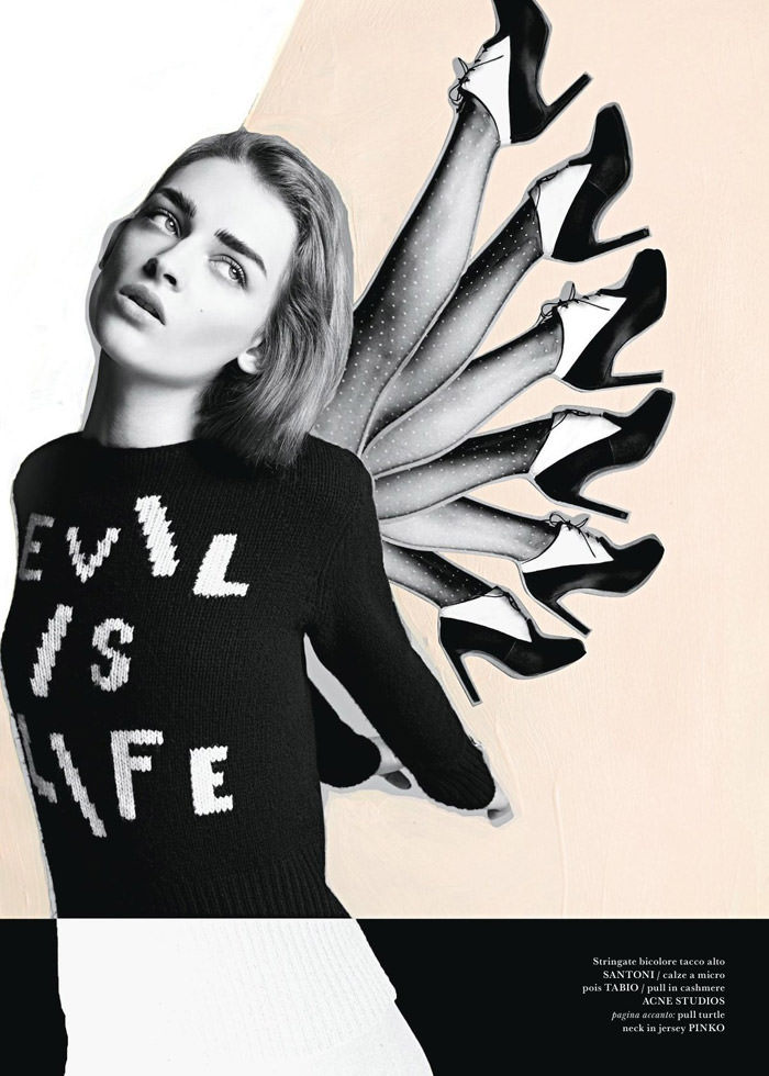 Daga Ziober photographed by Quentin Jones for Flair Italia #7, November 2013