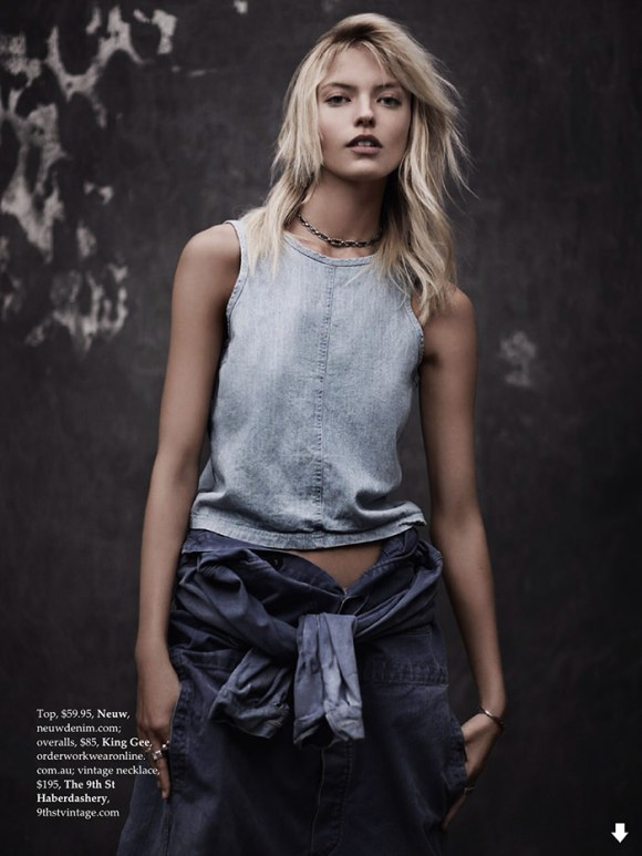 Martha Hunt by Adam Franzino for Elle Australia