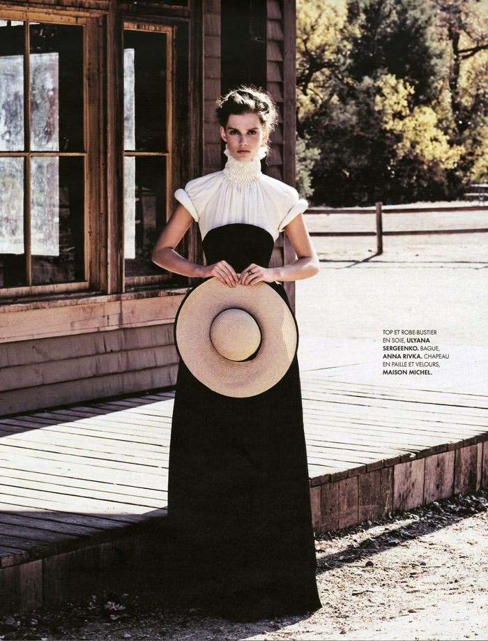 Giedre Dukauskaite photographed by Nicolas Moore for Elle France