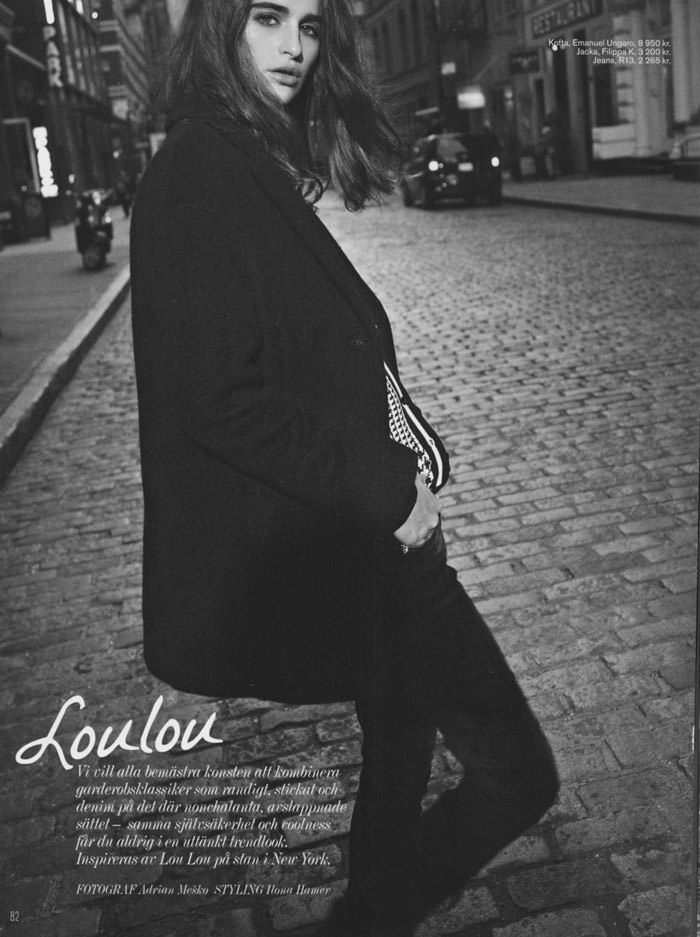 Loulou Robert by Adrian Mesko for Styleby Magazine