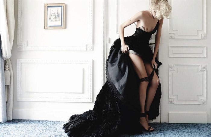 Anja Rubik by Mario Testino for Vogue Germany