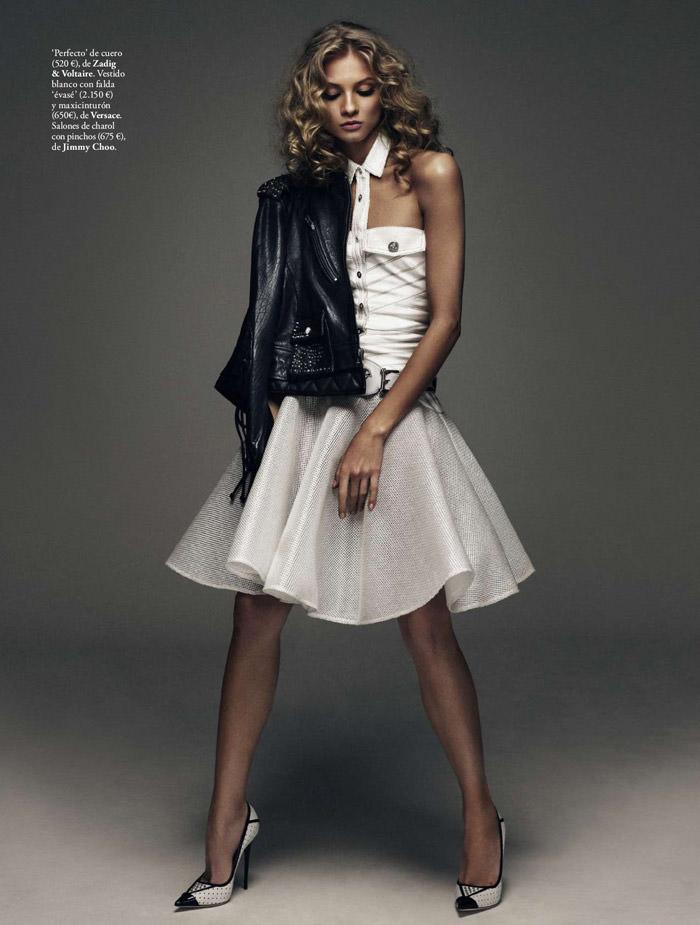 Anna Selezneva by Xavi Gordo for Elle Spain