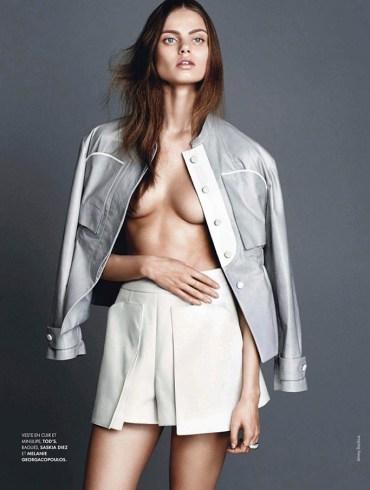 Aiste Regina Kliveckaite by Jimmy Backius for Elle France