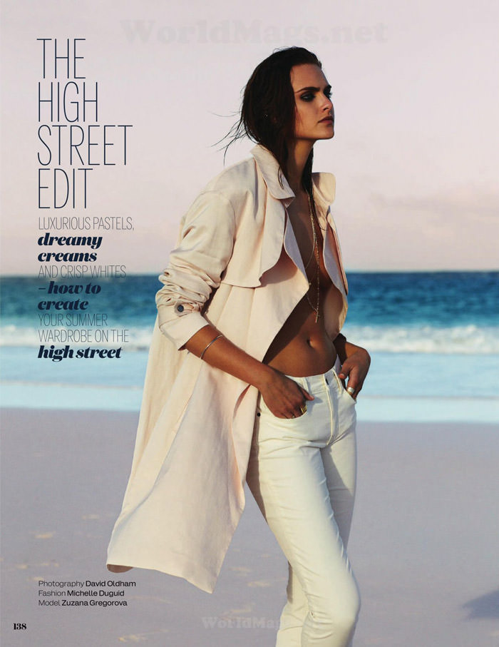 Zuzana Gregorova by David Oldham for Elle UK