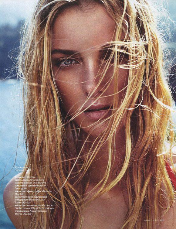 Denisa Dvorakova by Xavi Gordo for Elle Russia