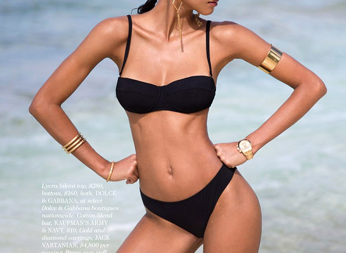 Lais Ribeiro by David Bellemere for Elle Magazine