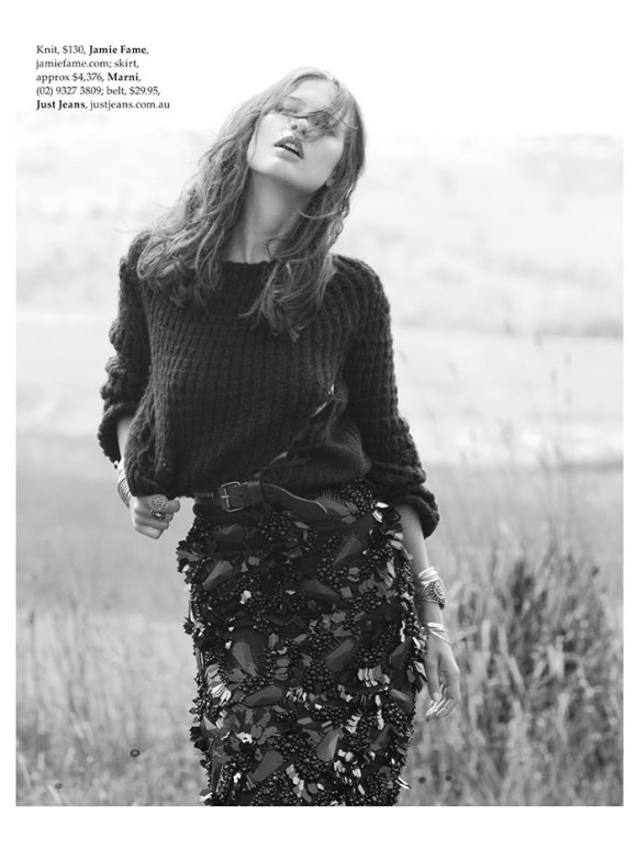 Valerija Erokhina by Stefania Paparelli for Elle Australia