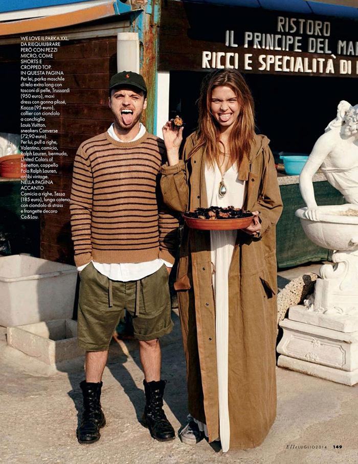 Josephine Skriver by Dan Martensen for Elle Italy