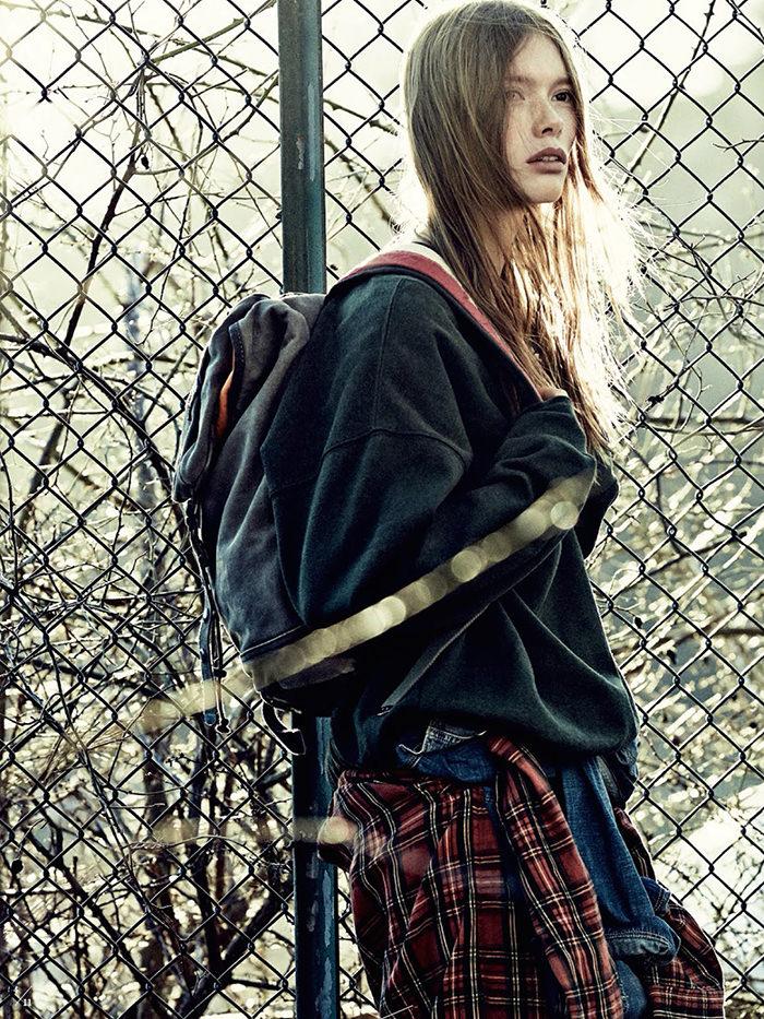 Julia Hafstrom photographed by Andreas Sjodin for Elle Sweden, September 2014