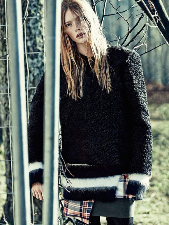Julia Hafstrom by Andreas Sjodin for Elle Sweden