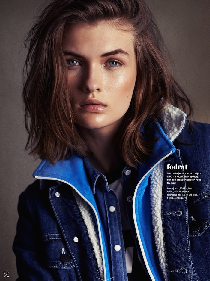 Lara Mullen photographed by Honer Akrawi for Elle Sweden, October 2014