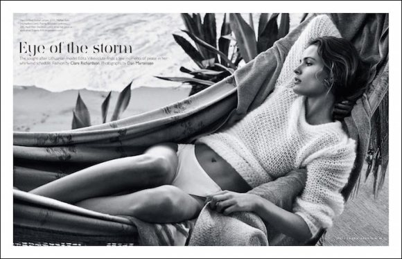 Edita Vilkeviciute by Dan Martensen for The Sunday Telegraph
