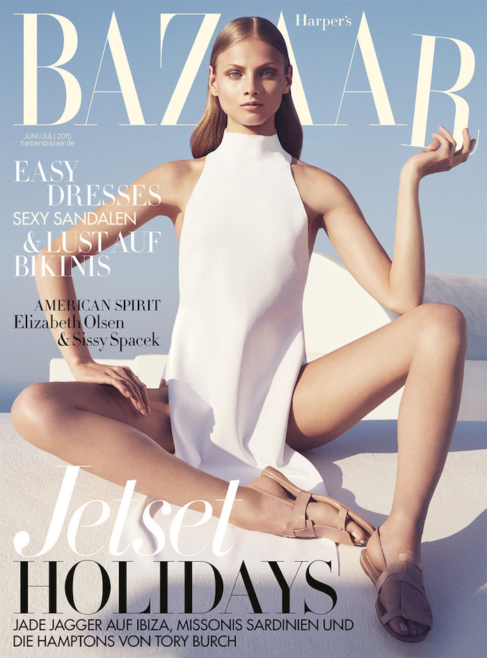 Anna Selezneva covers Harper's Bazaar Germany