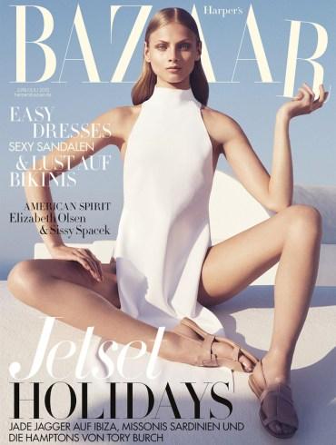 Anna Selezneva covers Harper's Bazaar Germany